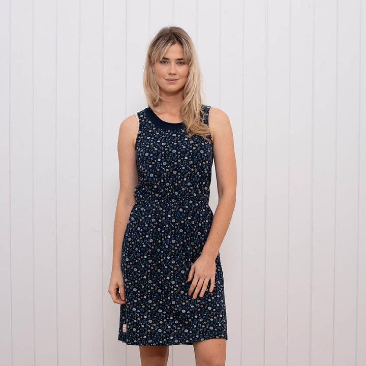a1115fc2e947 Brakeburn Ditsy Jersey Beach Dress - Navy - Flagship Boutique