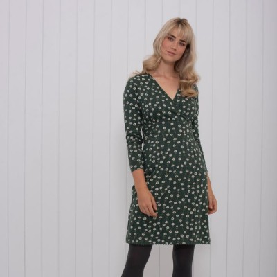 81bbbd35cac7 Brakeburn Daisy Wrap Dress - Green