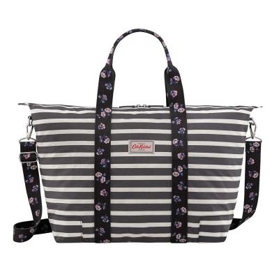 1b710fb1755a Cath Kidston Breton Stripe Foldaway Overnight Bag - Deep Charcoal
