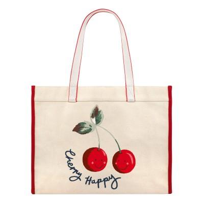13fa5f25afb6 Cath Kidston Cherry Happy Canvas Tote Bag - Cream