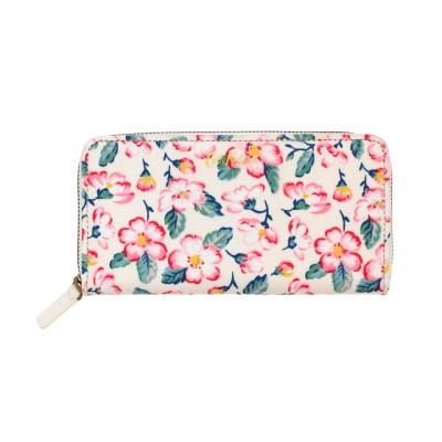 d01d0a70f608 Cath Kidston Climbing Blossom Continental Zip Wallet - Warm Cream