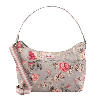 53b2aca5b84a Cath Kidston Garden Rose Heywood Shoulder Bag - Grey