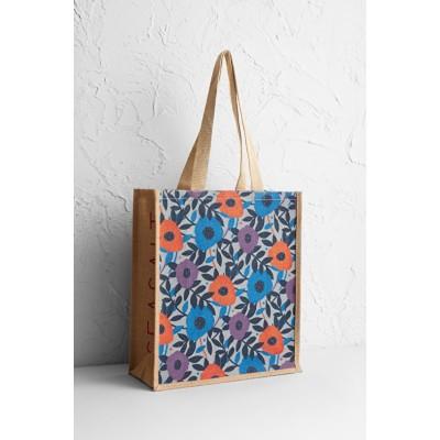 17c5e4c2a70c Seasalt Jute Shopper - Flower Collage Cobble