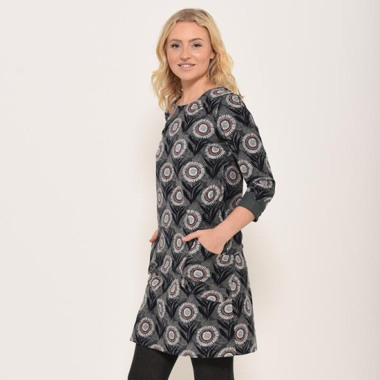 Brakeburn Martha Shift Dress - Blue Slate