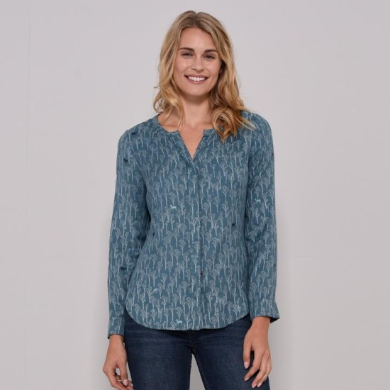 Brakeburn Relaxed Fit Blouse - Green