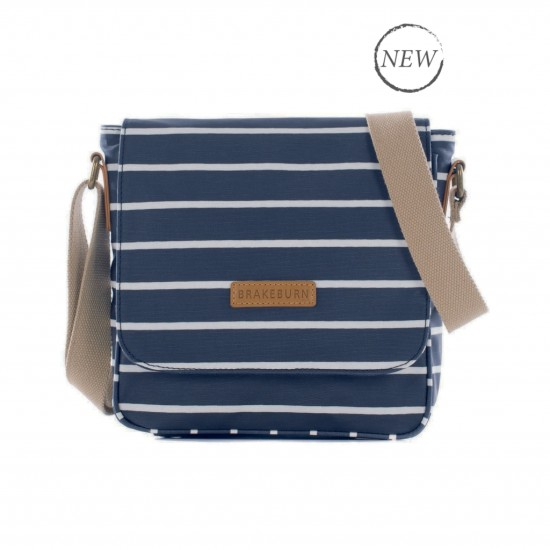 Brakeburn Stripe Cross Body Bag - Navy
