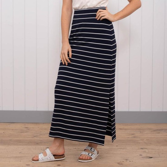 Brakeburn Stripe Maxi Skirt - Navy