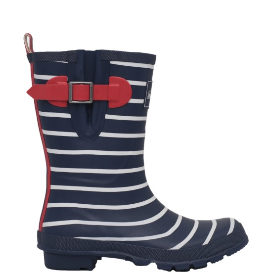 Brakeburn Stripe Mid Welly - Blue