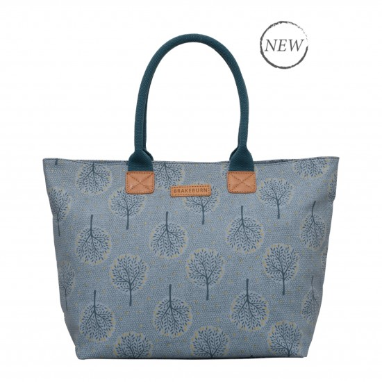 Brakeburn Trees Large Handbag - Blue
