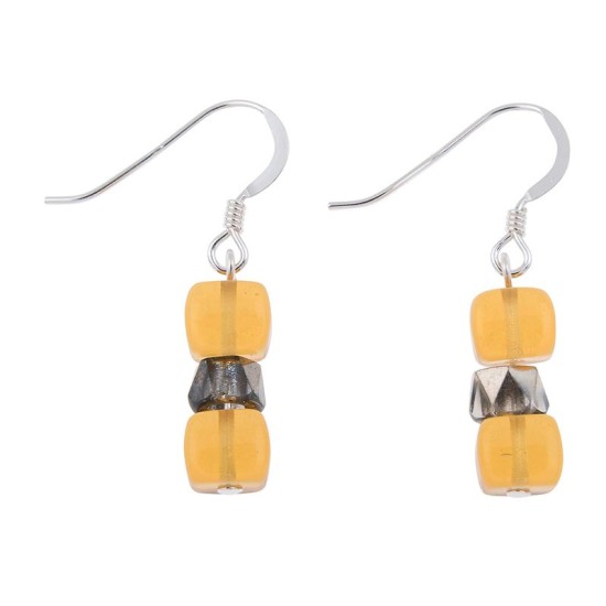 Carrie Elspeth Amber Sparkle Earrings - EH1565c