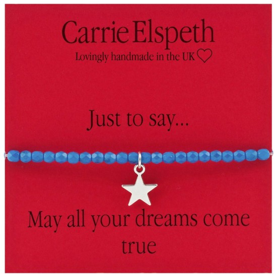 Carrie Elspeth BB003 Sentiments Bracelet - May All Your Dreams Come True