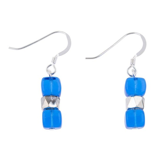 Carrie Elspeth Blue Sparkle Earrings - EH1565h