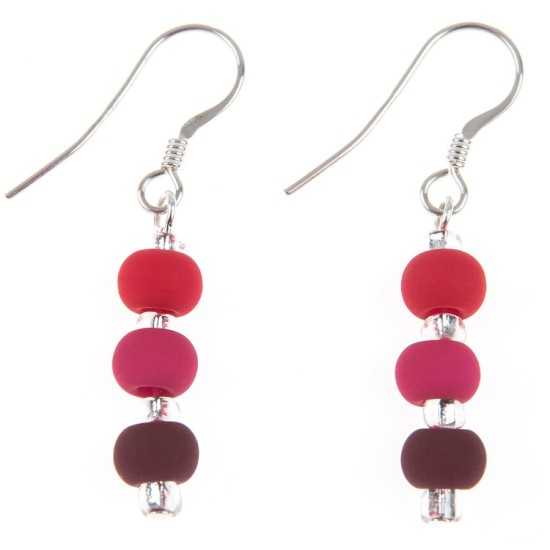 Carrie Elspeth Carnival Earrings - EH1246a - Berry