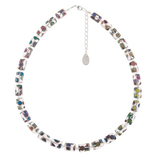 Carrie Elspeth Clear Dotty Rectangles Full Necklace - N1583