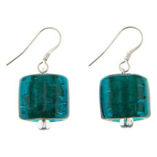 Carrie Elspeth EE069 Green Copper Lined Square Earrings