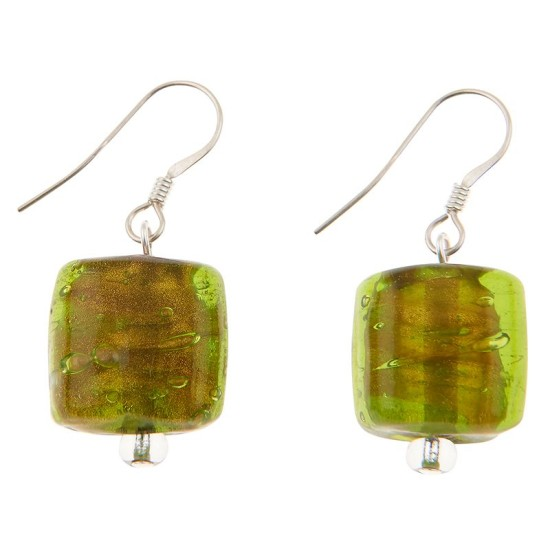 Carrie Elspeth EE070 Olivine Copper Lined Square Earrings