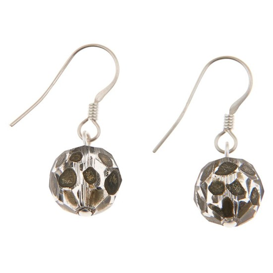 Carrie Elspeth EE100 Jet Faceted Sphere Earrings