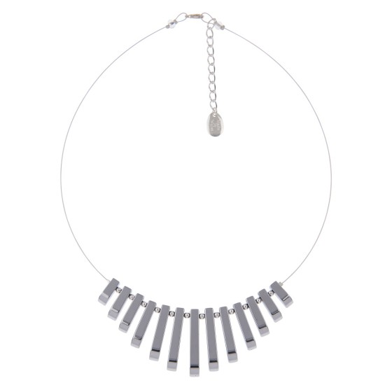 Carrie Elspeth Haematite Collar Necklace - Silver - N1435