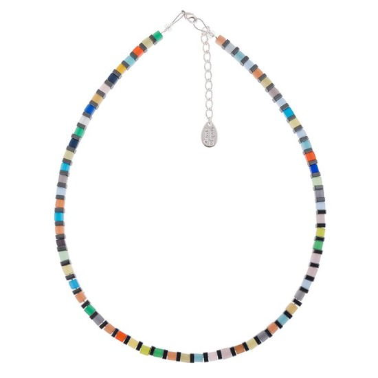 Carrie Elspeth Night-time Cats Eye Cubes Full Necklace - N1558