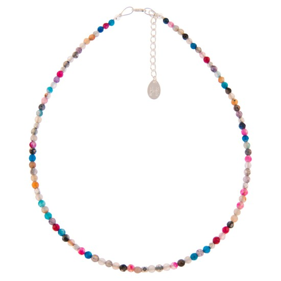 Carrie Elspeth Rainbow Medley Agate Necklace - N1512