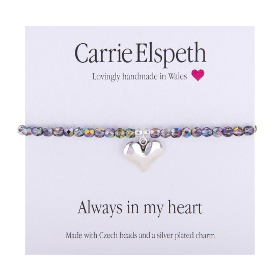 Carrie Elspeth Sentiment Bracelet - Always in my Heart - BB159