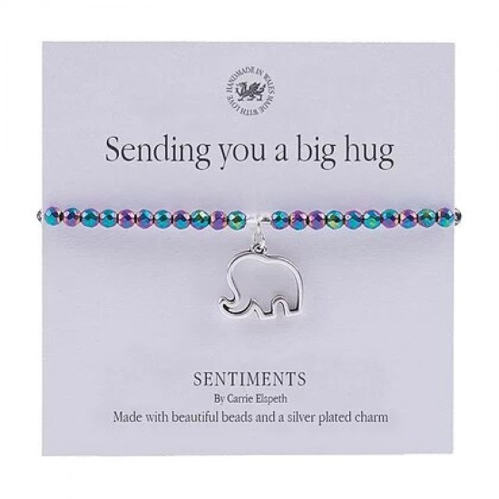 Carrie Elspeth Sentiment Bracelet - Sending You a Big Hug - BB094
