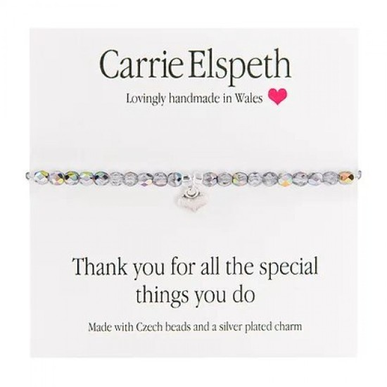 Carrie Elspeth Sentiment Bracelet - Thank you for all the special things - BB118