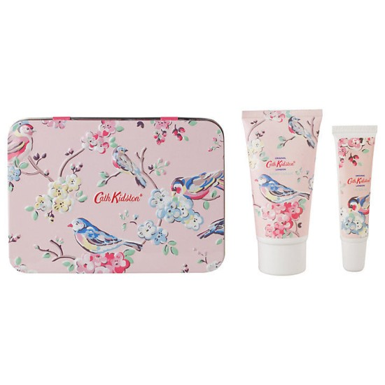 Cath Kidston Blossom Birds Hand and Lip Set Tin - Pink