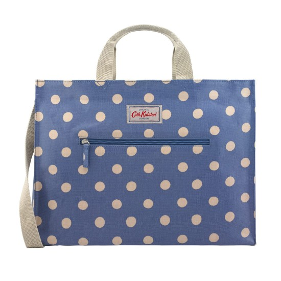 Cath Kidston Button Spot Strappy Carryall Bag - Periwinkle