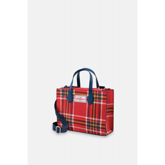 Cath Kidston Clarendon Check Grab Cross Body Bag - Ruby