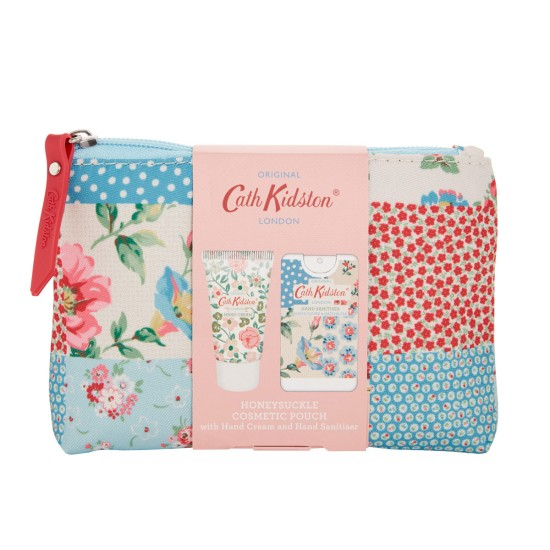 Cath Kidston Cottage Patchwork Cosmetic Pouch Sanitiser & Hand Cream Set