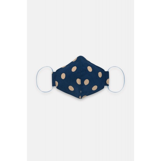 Cath Kidston Adult Face Covering - Button Spot Navy