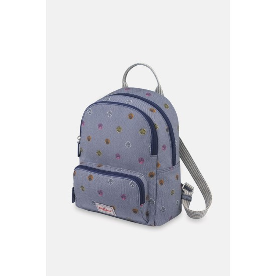 Cath Kidston Seaside Shells Small Pocket Backpack - Soft Navy
