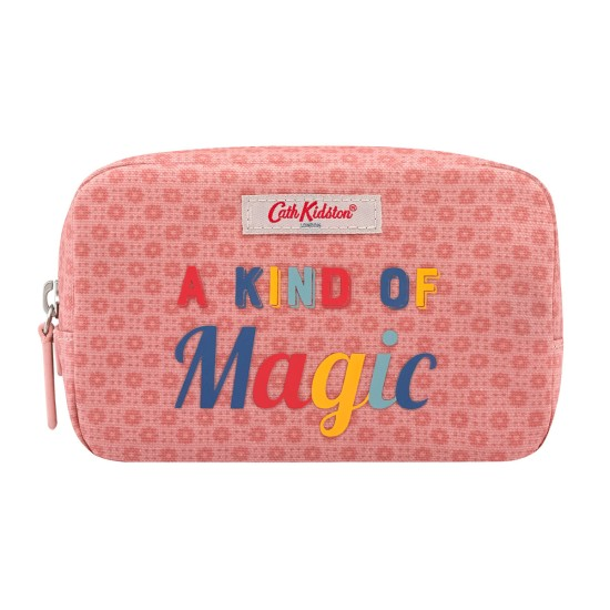 Cath Kidston Shadow Flowers Magic Make Up Bag - Pink