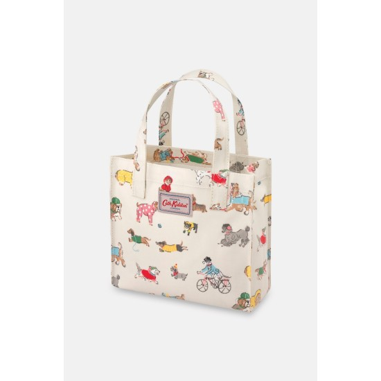 Cath Kidston Small Park Dogs Small Bookbag - Warm Cream