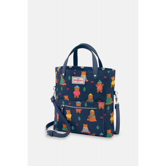 Cath Kidston Woodland Bear Reversible Cross Body Bag - Navy