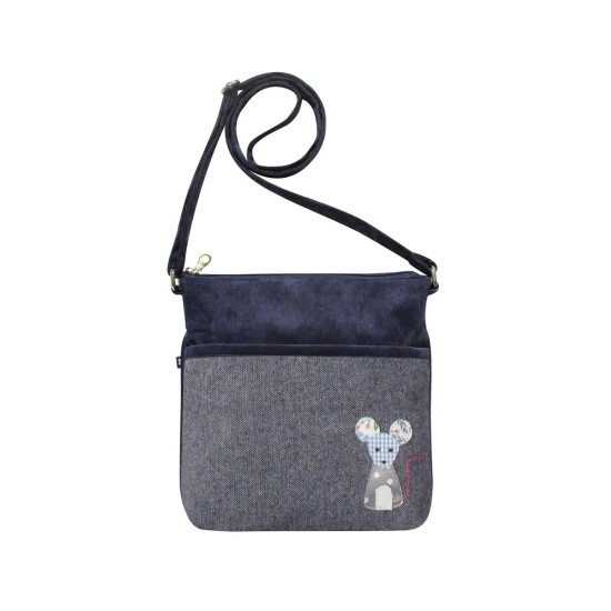 Earth Squared Blue Mouse Applique Amelia Bag