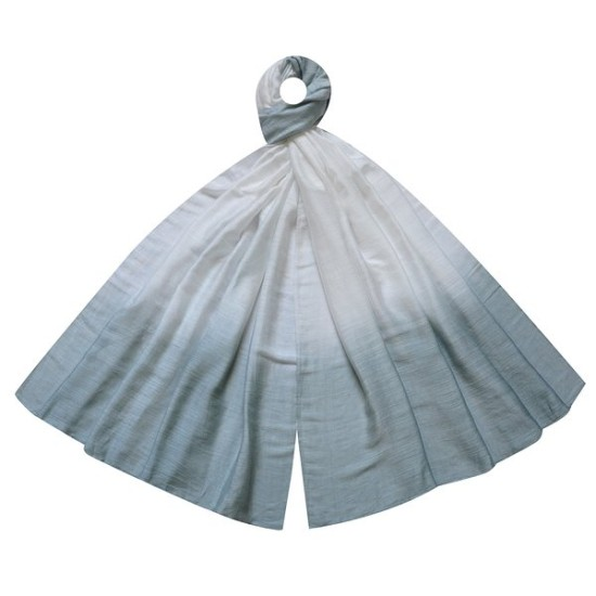 Earth Squared Dip Dye Village Scarf - Grey