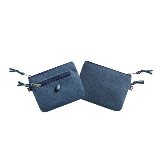 Earth Squared Navy Floral Canvas Emily Purse