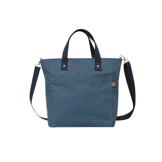 Earth Squared Navy Floral Canvas Tote Bag