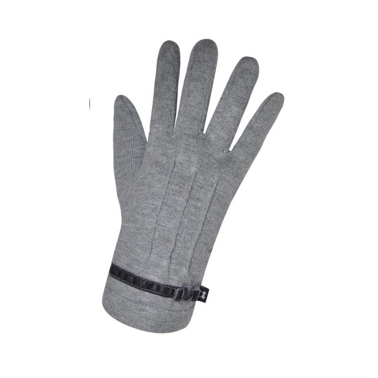 Earth Squared Plain Jersey Gloves - Grey