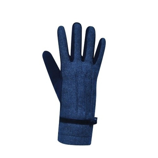 Earth Squared Plain Wool Gloves - Blue