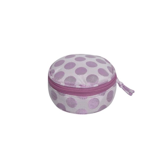 Earth Squared Satin Spot Jewellery Pouch - Pink