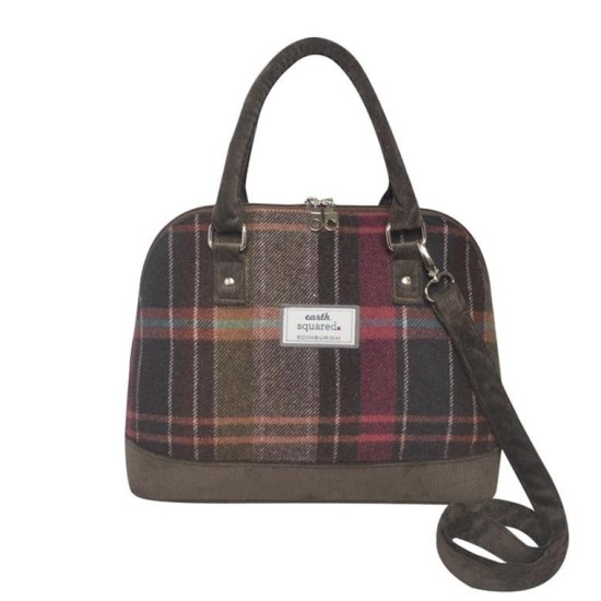 Earth Squared Tweed Bowling Bag - Pewter