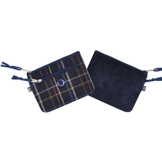 Earth Squared Tweed Emily Purse - Navy