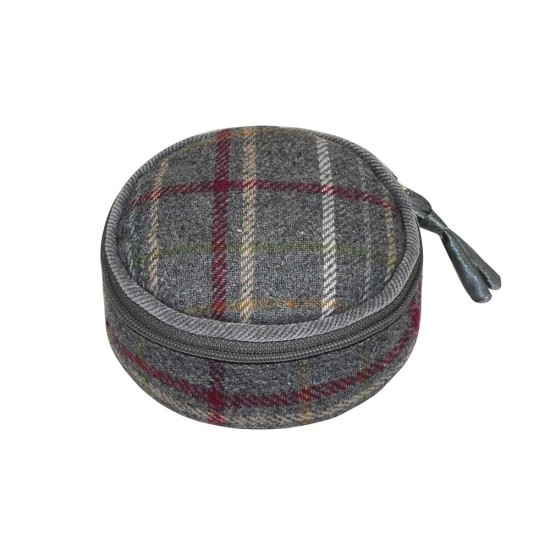 Earth Squared Tweed Jewellery Pouch - Grey