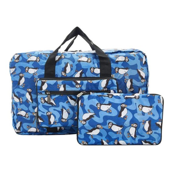 Eco Chic Lightweight Foldable Holdall - Puffin Blue
