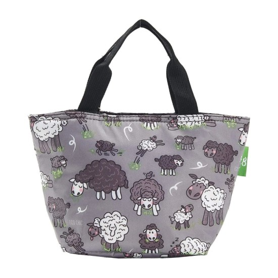 Eco Chic Lightweight Foldable Lunch Bag - Sheep Grey