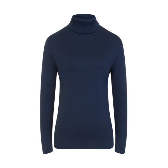 Emreco Millie Polo Neck Top - Eclipse Blue