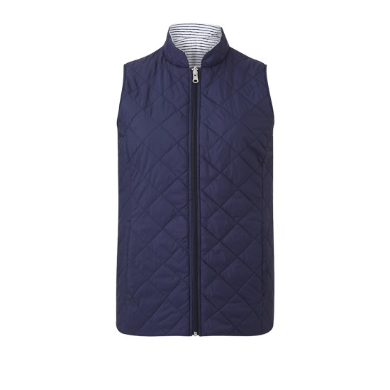 Emreco Steeple Reversible Quilted Gilet - Navy / White